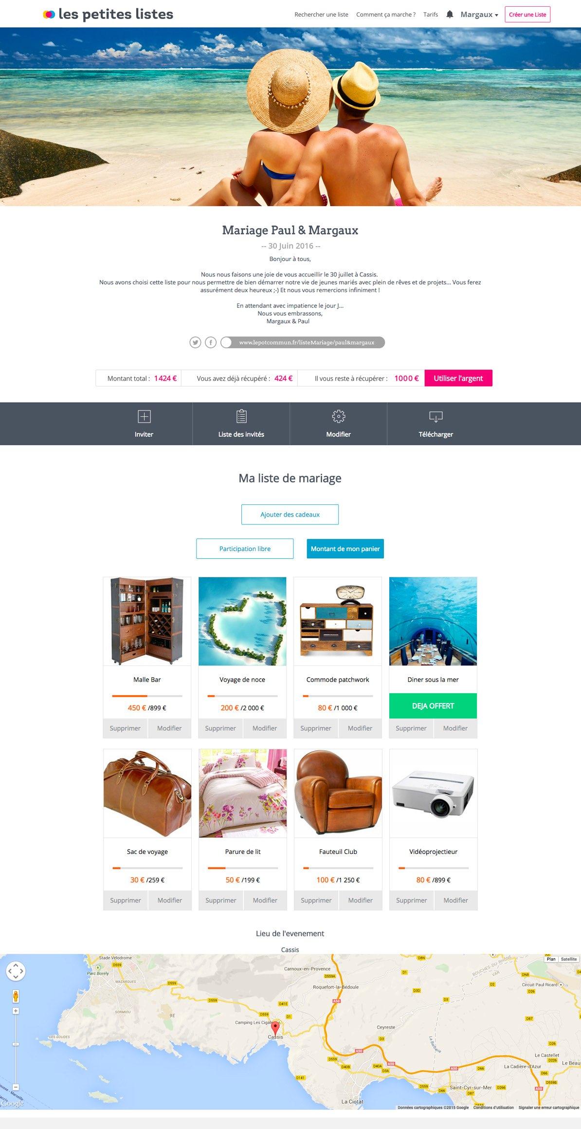 les petite listes liste de mariage et naissance en ligne. Black Bedroom Furniture Sets. Home Design Ideas